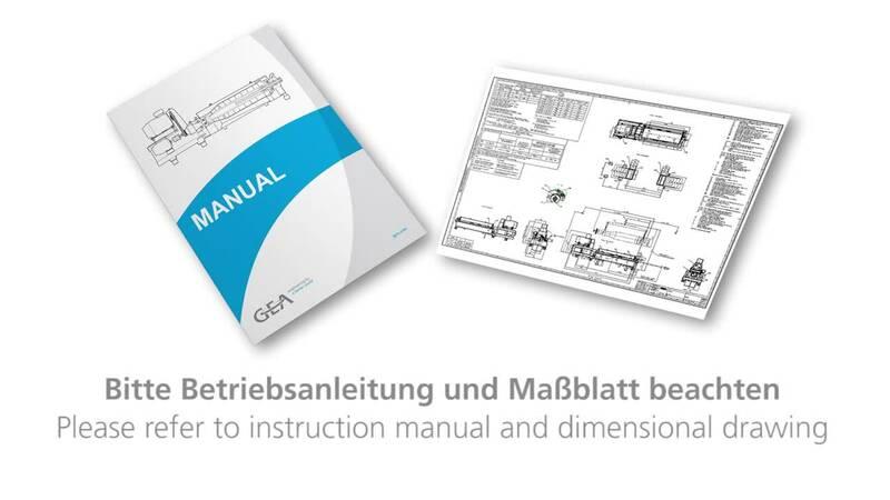 Installation guide for 2-part decanter frames - GEA Video Portal
